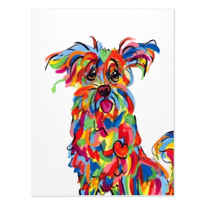 Terrier Rainbow Palz Painting