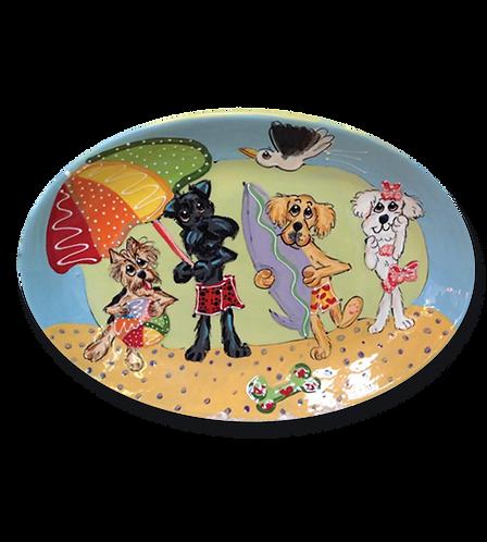 Beach Dogs Oval Platter