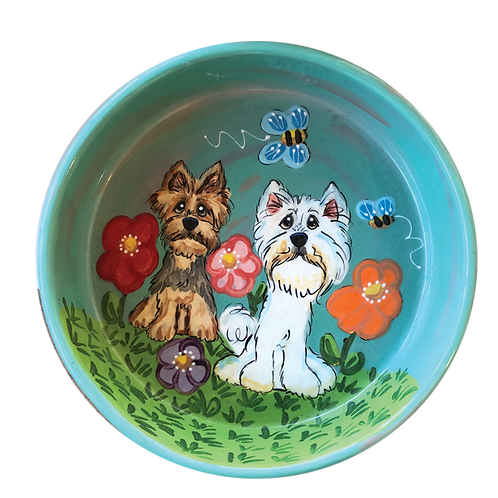 Yorkie and Westie Bowl