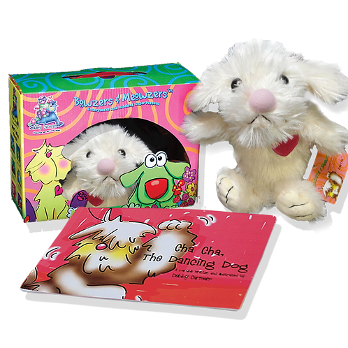 Cha Cha, The Dancing Dog© Book & Hand Puppet Gift Boxed Set