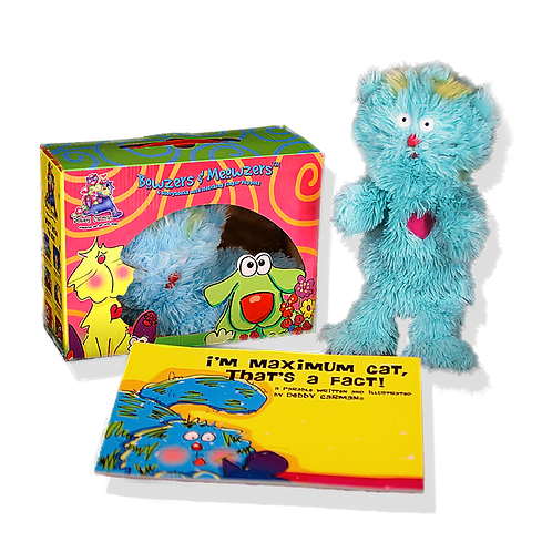Maximum Cat© Book & Hand Puppet Gift Boxed Set