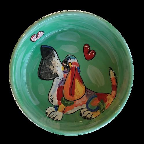 Basset Hound Rainbow Palz bowl