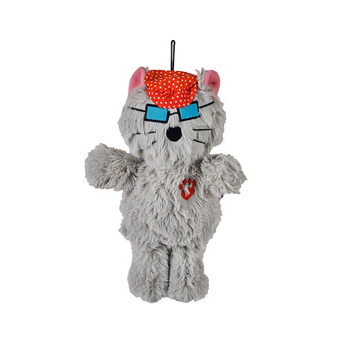 Multipet Bowzers and Meowzers™ Kittywimpuss Squeaky Plush Dog Toy, Large