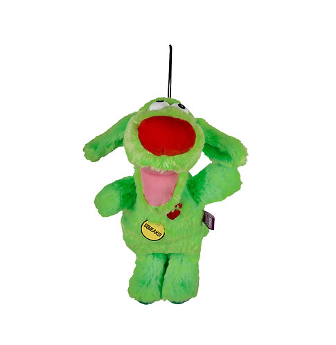 Multipet Bowzers and Meowzers™ Grrronk Squeaky Plush Dog Toy, Large