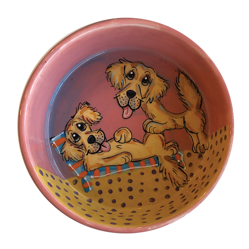 Golden Retrievers bowl