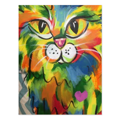 Main Coon Rainbow Palz Painting