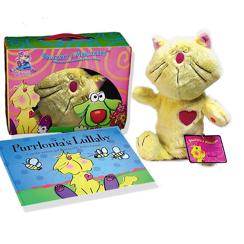 Purrlonia's Lullaby© Book & Hand Puppet Gift Boxed Set