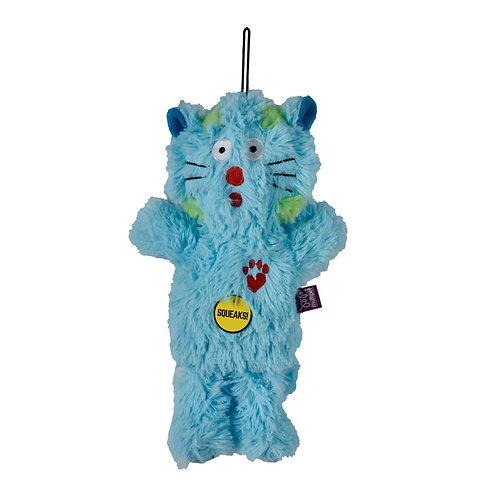 Multipet Bowzers and Meowzers™ Maximum Cat Squeaky Plush Dog Toy, Large