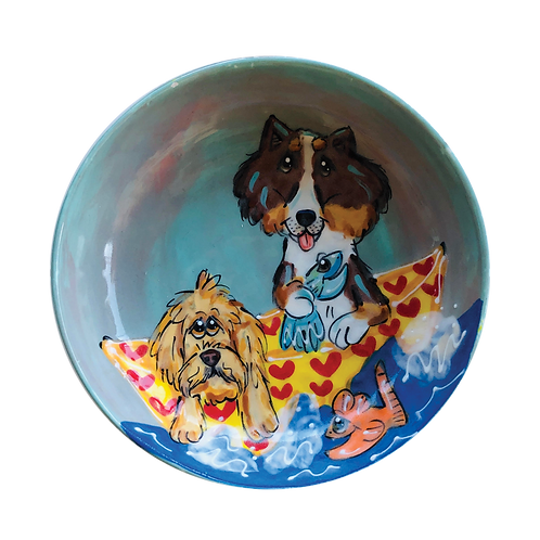 Doodle and Collie bowl