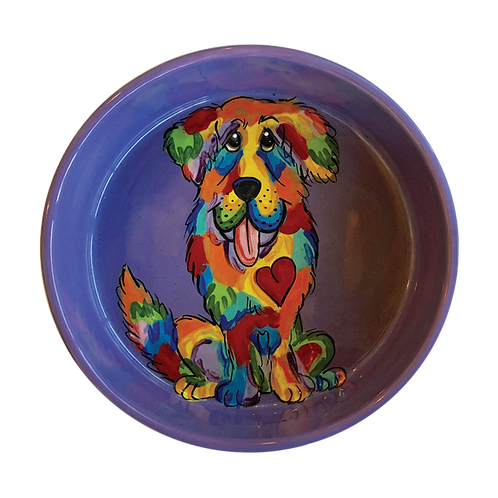 Golden Retriever Rainbow Palz bowl