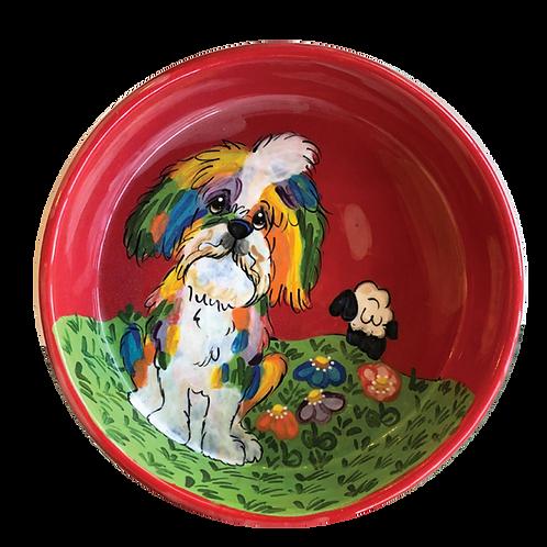 Lhasa Apso Rainbow Palz Bowl