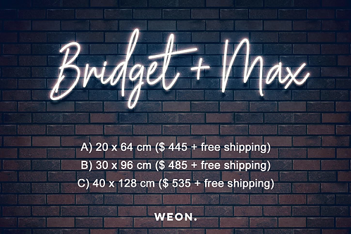 Custom Neon Sign (Brittni McGuire)
