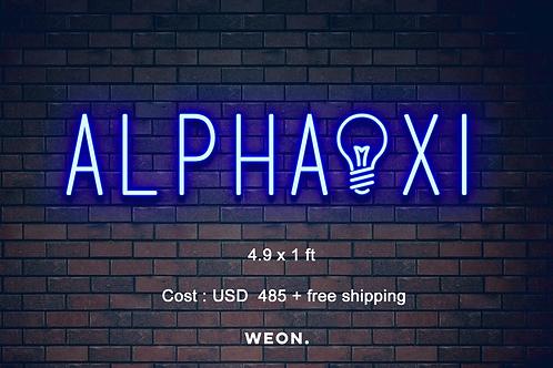 Custom Neon Sign (  Texas Alpha Xi Delta )