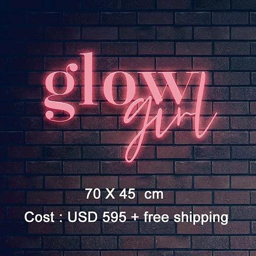 Custom Neon Sign (glow girl)