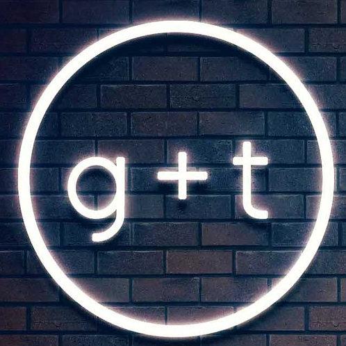 Custom Neon Sign ( g+t )