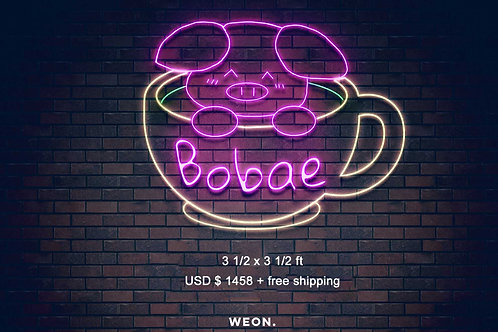 Custom Neon Sign ( Bobae in cup )