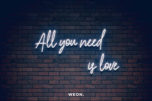 Custom Neon Sign ( All you need is love )
