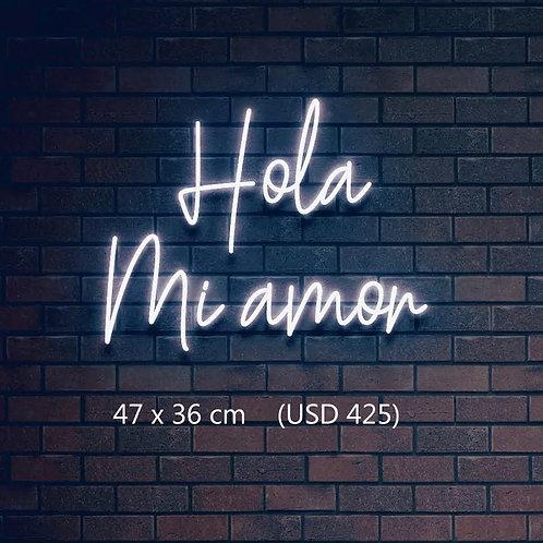 Custom Neon Sign (Hola mi amor)