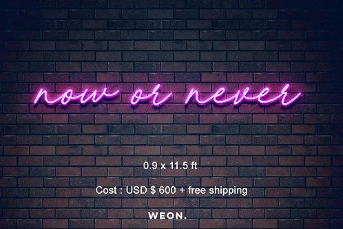 Custom Neon Sign (   maddie current )