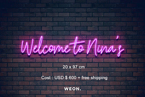 Custom Neon Sign ( Nineth Mora )