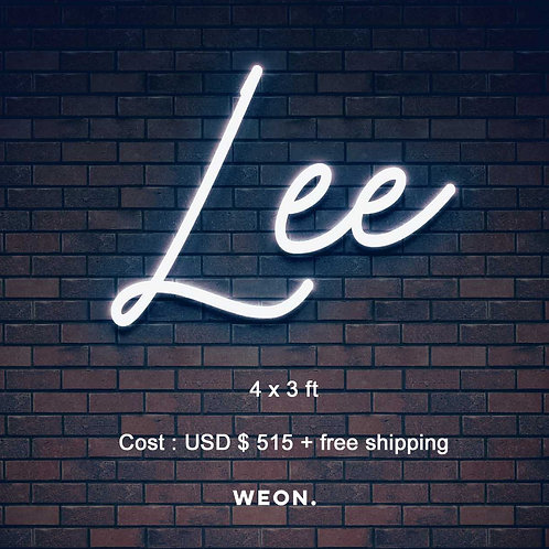 Custom Neon Sign (Lee)