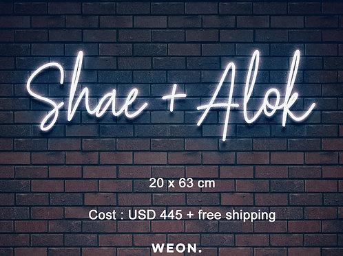 Custom Neon Sign ( Shae )