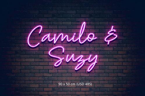 Custom Neon Sign  (Camilo & Suzy)