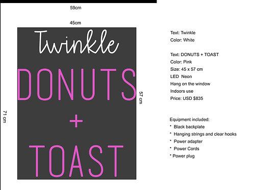 Custom Neon Sign (Donuts + Toast)