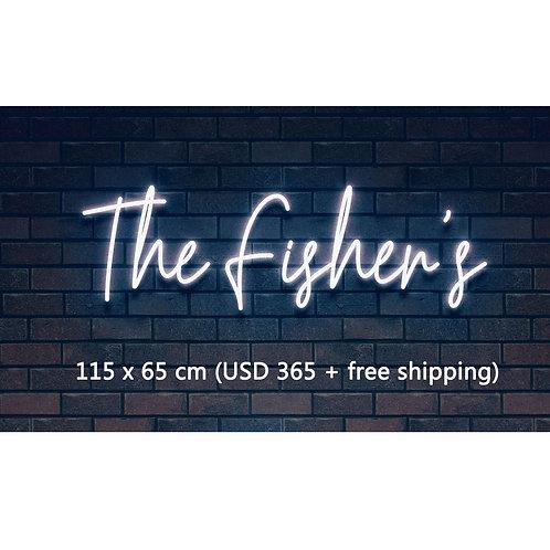 Custom Neon Sign   (The Fisher's)