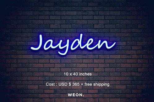 Custom Neon Sign ( Jayden Woods )