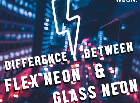 Difference between flex neon (LED neon) and traditional glass neon