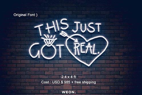 Custom Neon Sign ( Central Coast Bride )