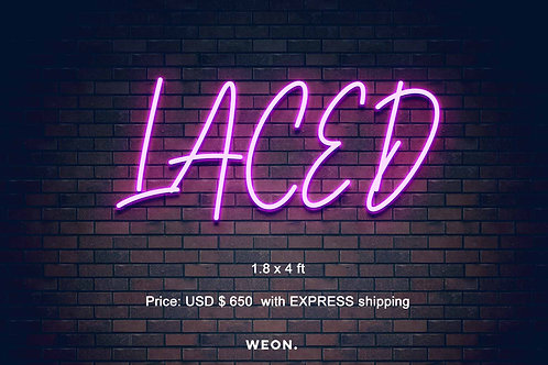 Custom Neon Sign ( LACED EXPRESS )
