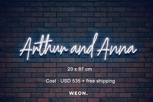 Custom Neon Sign ( Anna Chang )