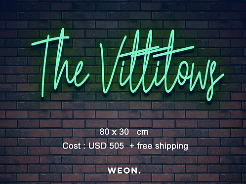 Custom Neon Sign ( Morgan Rae Burke )