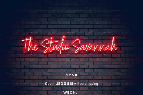 Custom Neon Sign ( The STUDIO - Savannah )