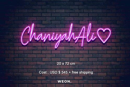 Custom Neon Sign ( Chaniyah Turner )