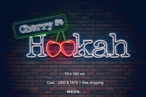 Custom Neon Sign ( CherrySt Hookah )