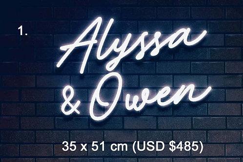 Custom Neon Sign ( Alyssa Redd )