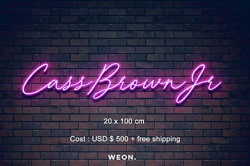 Custom Neon Sign ( Ray Brown Jr.  )