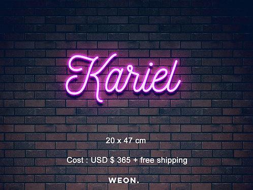 Custom Neon Sign ( Kariel Love )