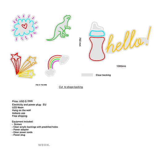 Custom Neon Sign ( Delphine Van Hecke 50 % payment )