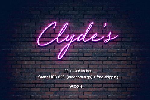 Custom Neon Sign ( chelseakloss.com )