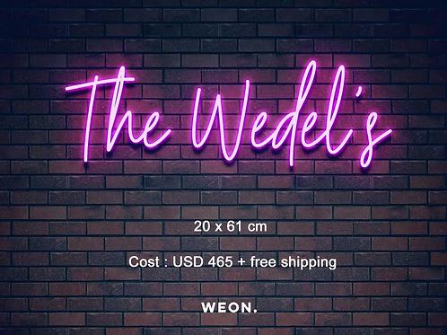 Custom Neon Sign ( Kristen Wedel )