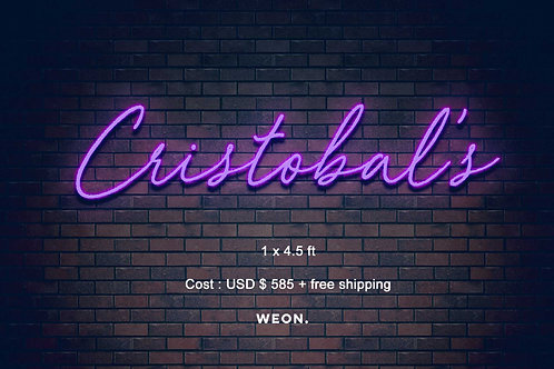 Custom Neon Sign ( cristobalscantina )