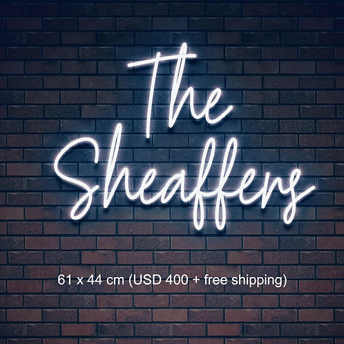 Custom Neon Sign (The Sheaffers)