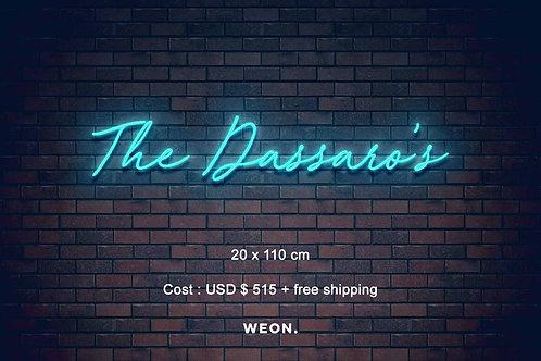 Custom Neon Sign ( Joan Dassaro )