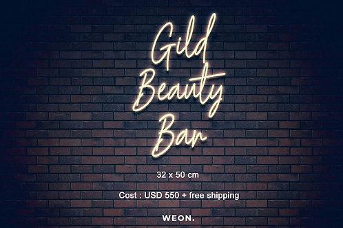 Custom Neon Sign ( Gild Beauty Bar )