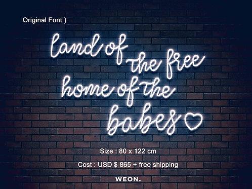 Custom Neon Sign ( farrah fasang )