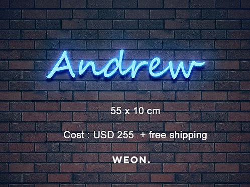 Custom Neon Sign (Andrew)